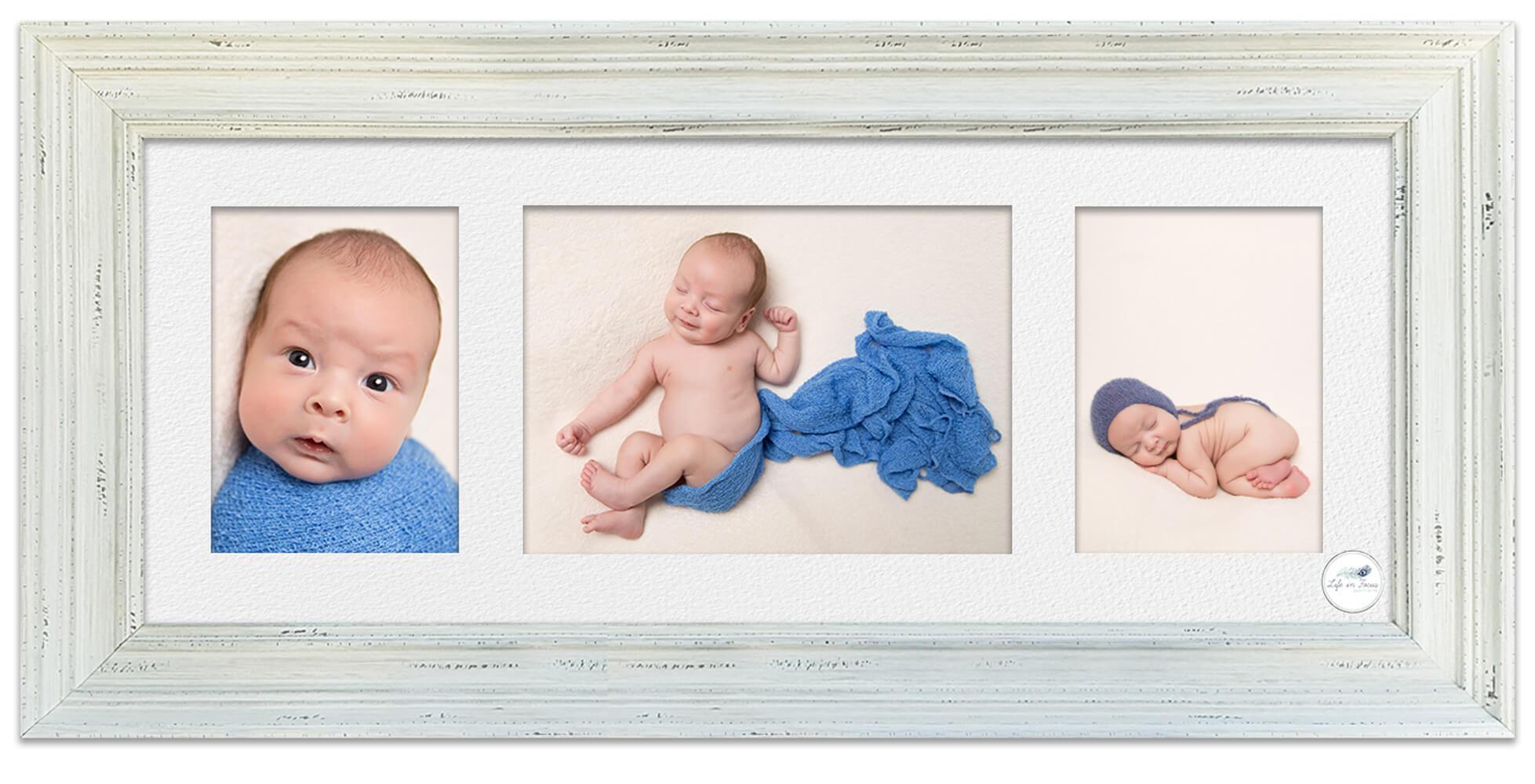 Framed baby photos newborn baby oy Life in Focus Portraits newborn baby photography Rhu Helensburgh Cardross