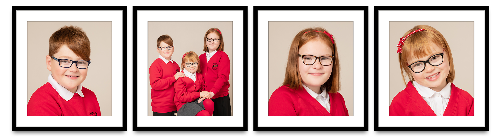 framed individual and sibling school photos Colgrain Primary School Helensburgh Life in Focus Portraits school photographer Rhu Helensburgh Argyll and Bute
