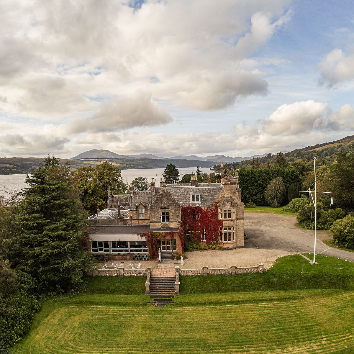 pfco qualified aerial drone photography business life in focus portraits commercial photographer rhu helensburgh loch lomond