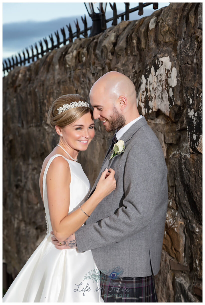 Bride and groom wedding photo Life in Focus Portraits wedding photography Loch Lomond Argyll and Bute