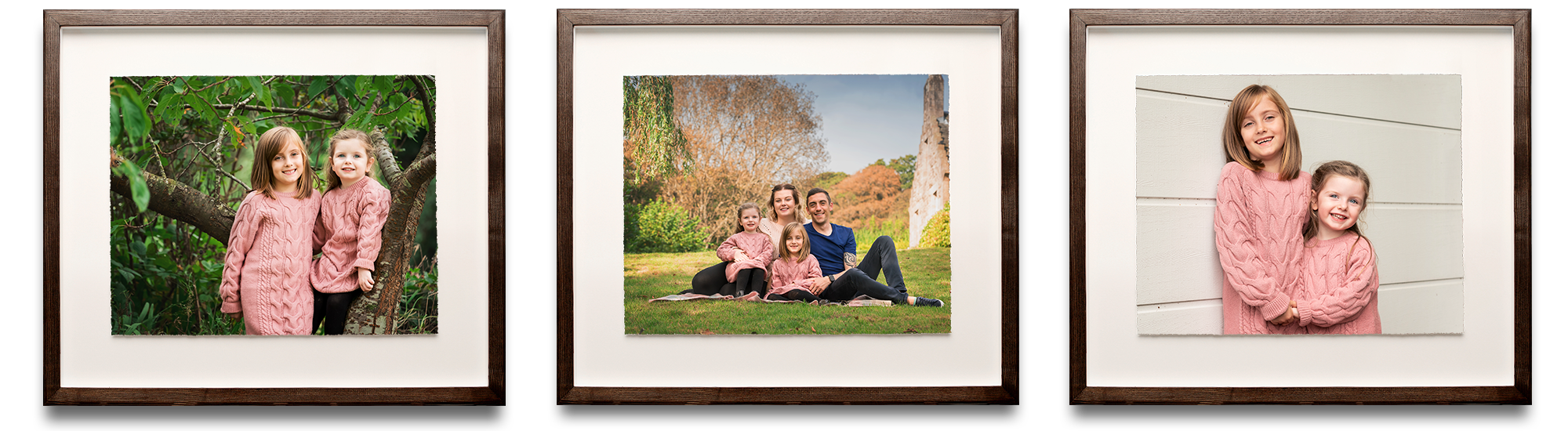 framed family portraits Life in Focus Portraits family photographer Rhu Helensburgh