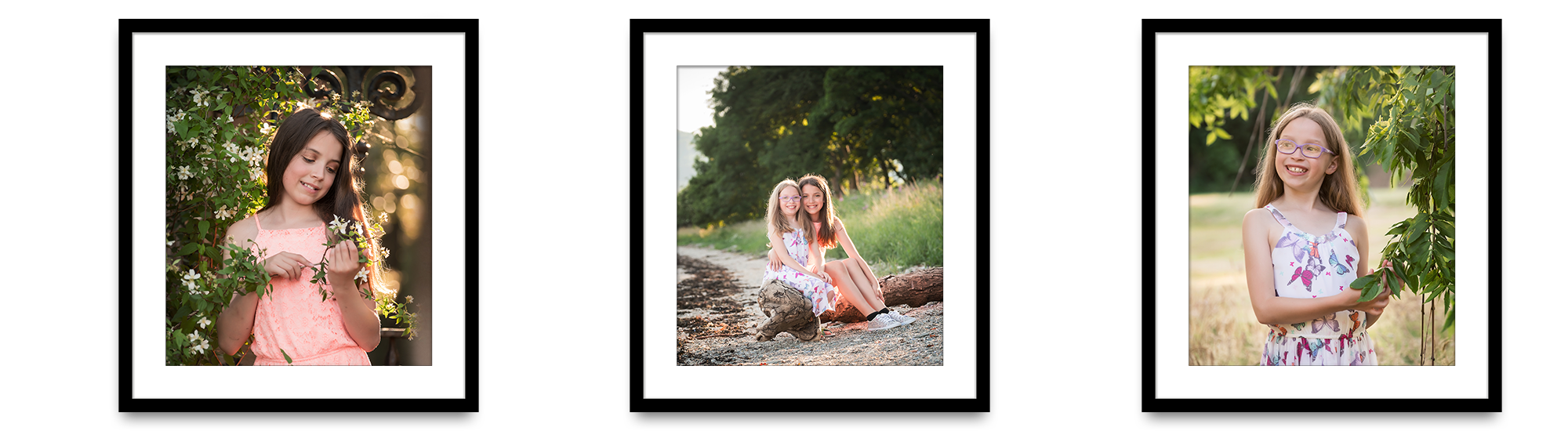 framed portrait of sister Life in Focus Portraits child photographer Cardross Dumbarton
