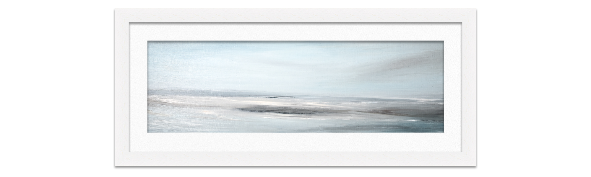 Framed painting of seascape by Karlyn Marshall Artist Artwork photographed by Life in Focus Portraits photography for small business Rhu Helensburgh