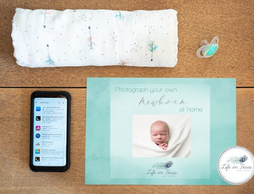 Photographing your newborn baby at home
