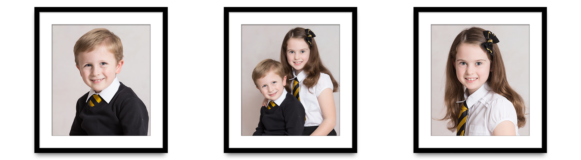 Rhu Primary School framed school photos brother and sister siblings Life in Focus Portraits school photography Rhu Helensburgh