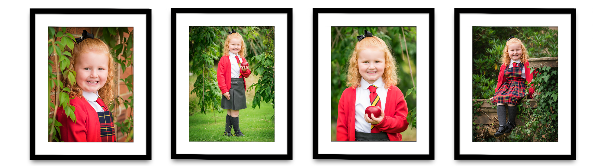 framed P1 back to school photos Hermitage Primary School Helensburgh Life in Focus Portraits school photographer Argyll and Bute