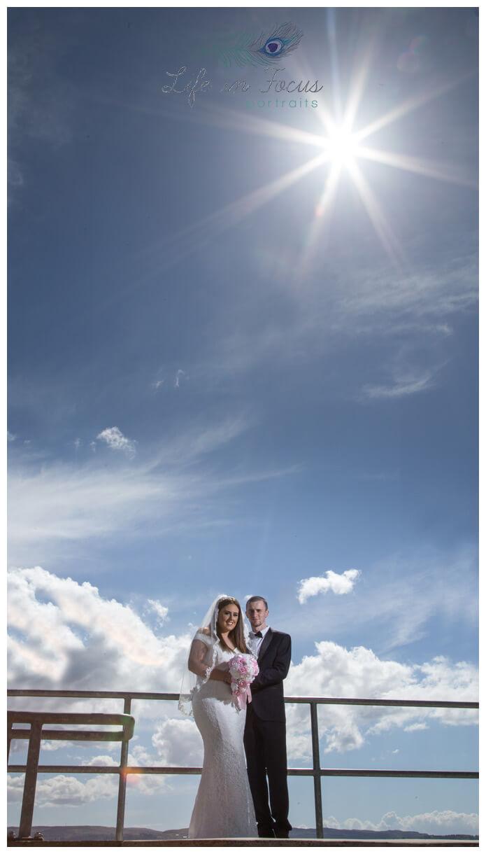bride and groom summer wedding Helensburgh Civic Centre registry officeLife in Focus Portraits wedding photographer Rhu Argyll & Bute