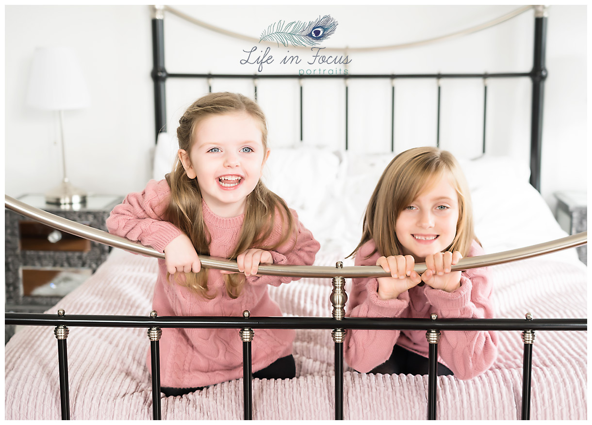 sisters child photoshoot in home Life in Focus Portraits lifestyle family photographer Rhu Helensburgh