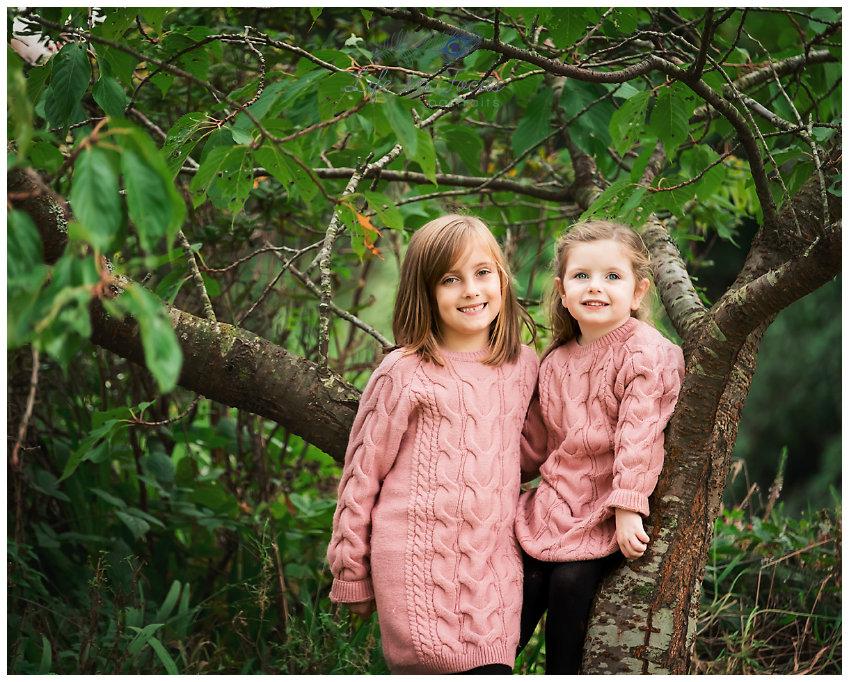 sisters outdoor child photography session Life in Focus Portraits family photographer Luss Loch Lomond