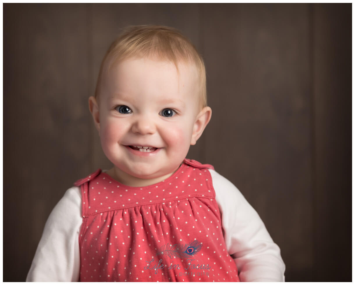 Baby's first birthday milestone photoshoot Life in Focus Portraits baby & child photographer Rhu Helensburgh