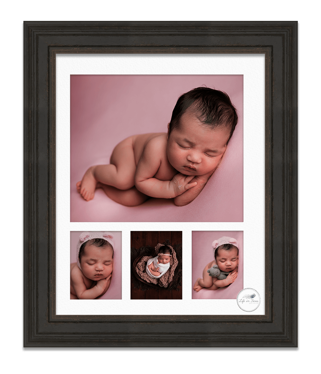 Framed-multi-aperture-mounted-newborn-photos-Life-in-Focus-Portraits-newborn-baby-photos-Rhu-Helensburgh