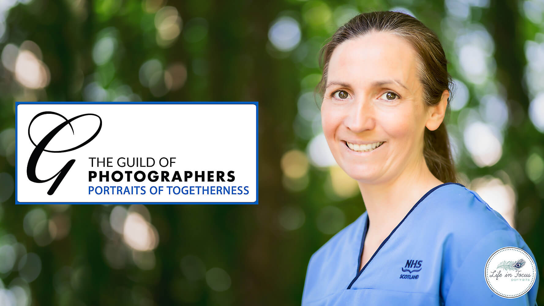 Portrait of NHS Scotland nurse Portraits of Togetherness Campaign free photoshoot for NHS heroes Life in Focus Portraits Helensburgh photography studio