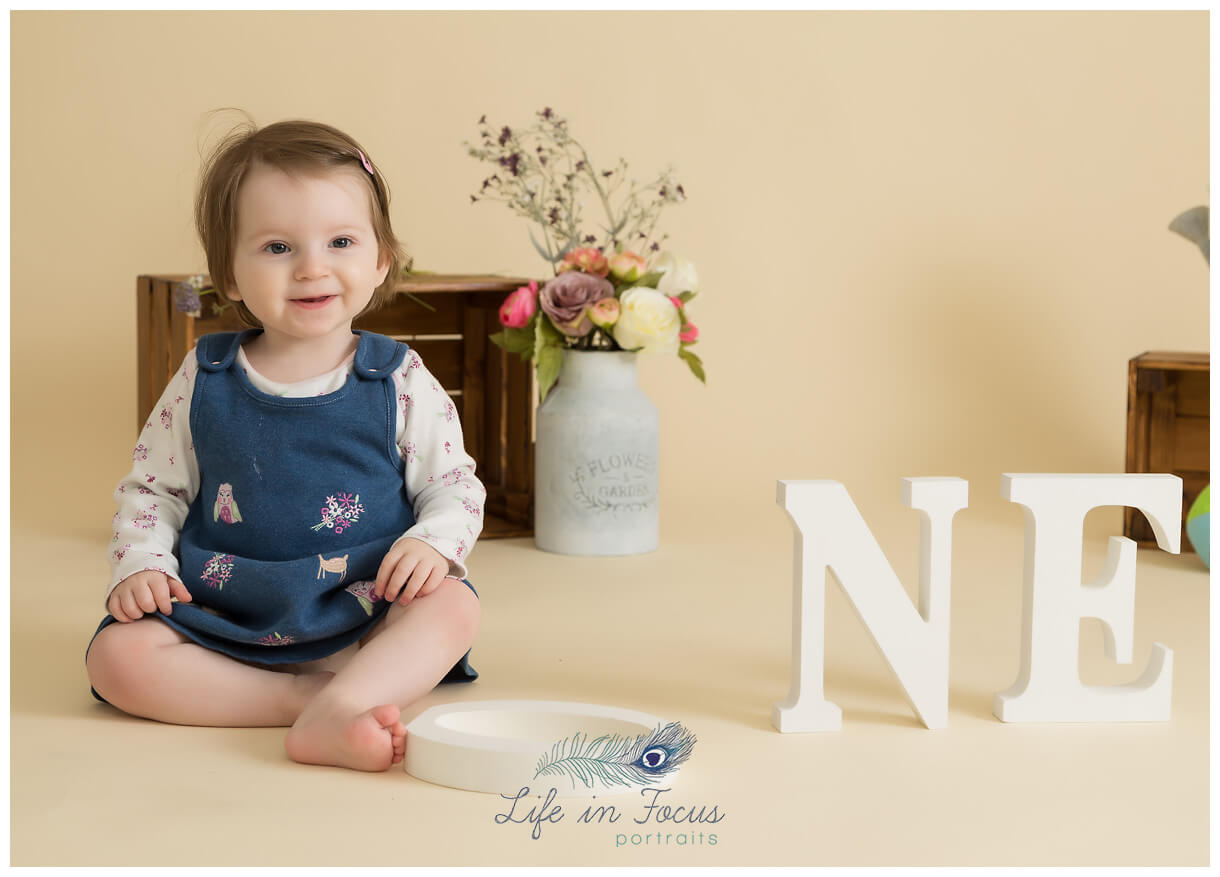 baby's 1st borthday photoshoot Life in Focus Portraits baby photographer Helensburgh Cardross Dumbarton
