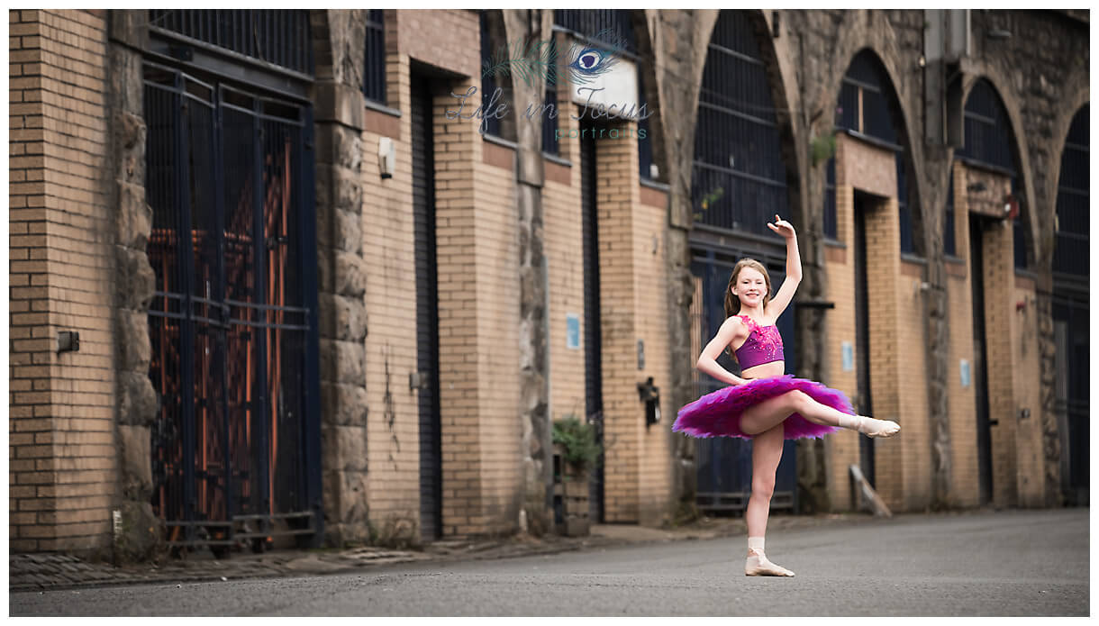 ballet dancer urban ballerina photoshoot Glasgow Life in Focus Portraits ballet dance photographer Luss Loch Lomond