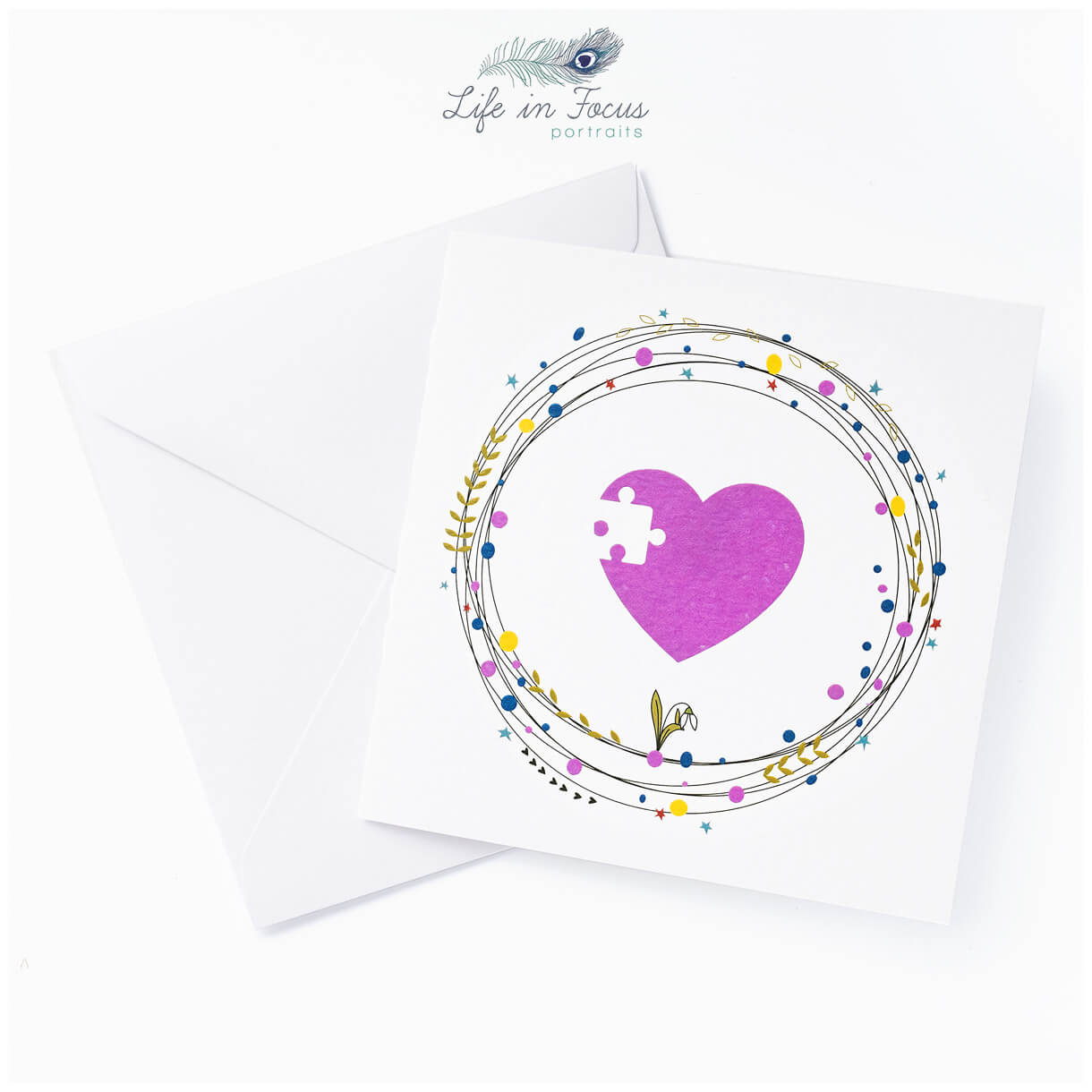child bereavement charity card white backgound Life in Focus Portraits product photography Helensburgh