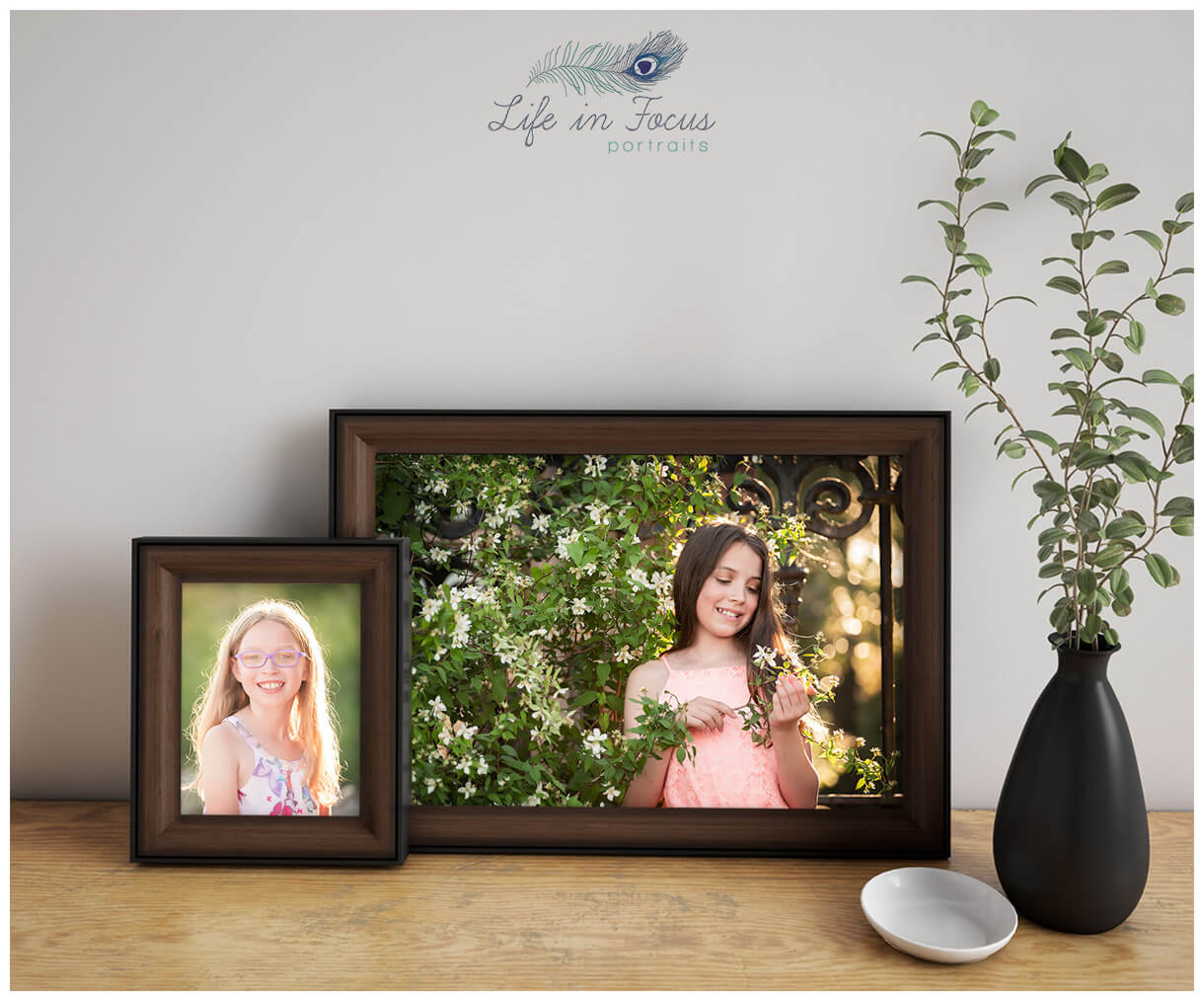 framed photos of sisters Life in Focus Portraits Helensburgh family photographer Cardross Dumbarton Balloch