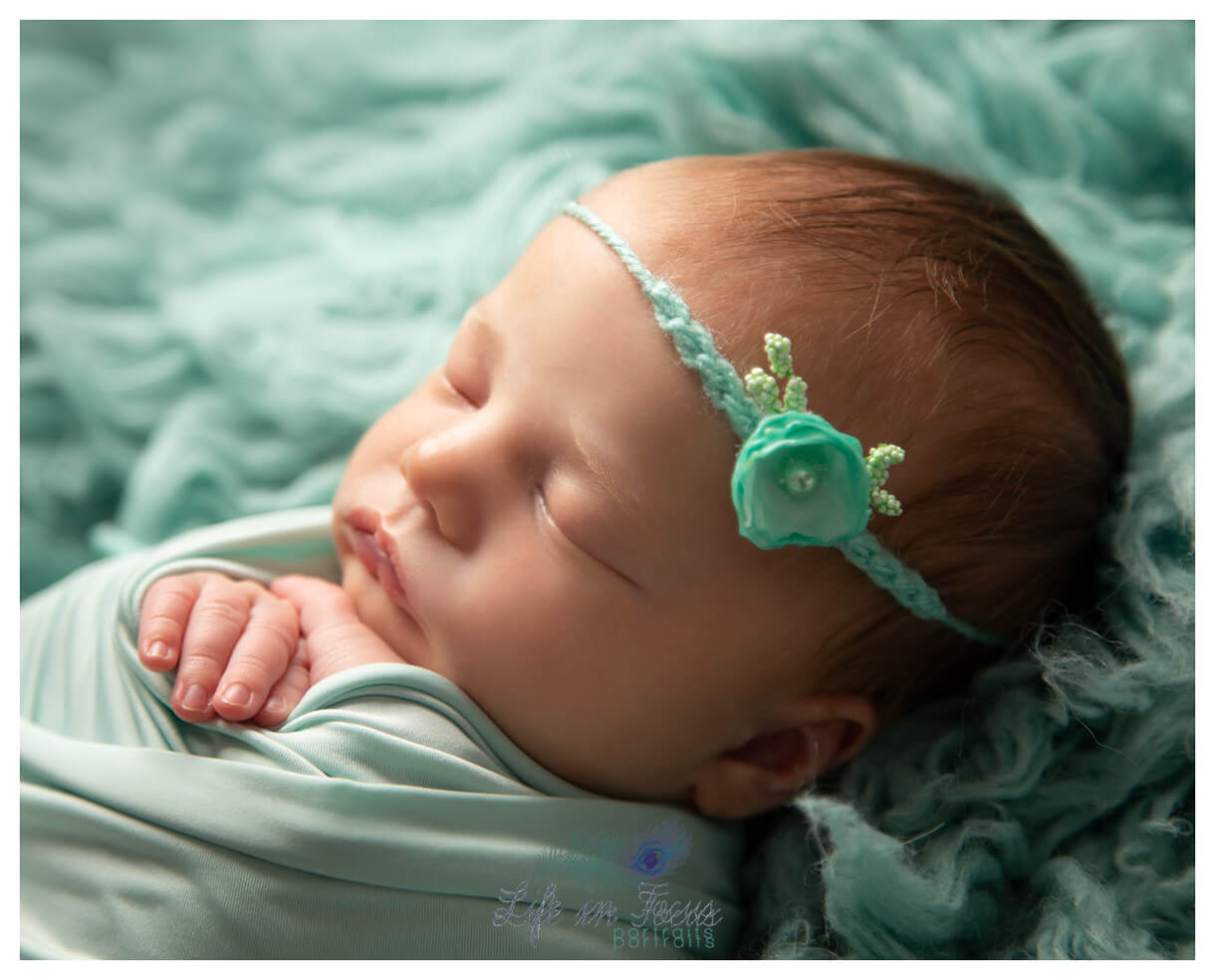 sleeping newborn baby girl Life in Focus Portraits newbonr baby photography Rhu Helensburgh Cardross