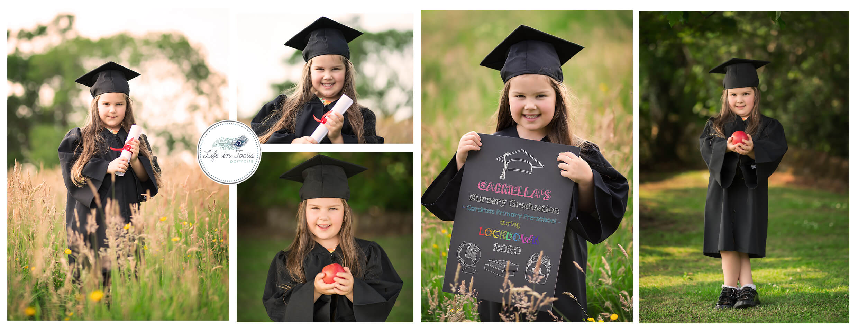 Nursery Graduation photos Cardross Helensburgh Rhu Life in Focus Portraits childrens photographer