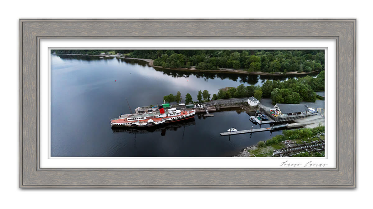 Maid of the Loch Life in Focus Portraits aerial drone photography Helensburgh Loch Lomond