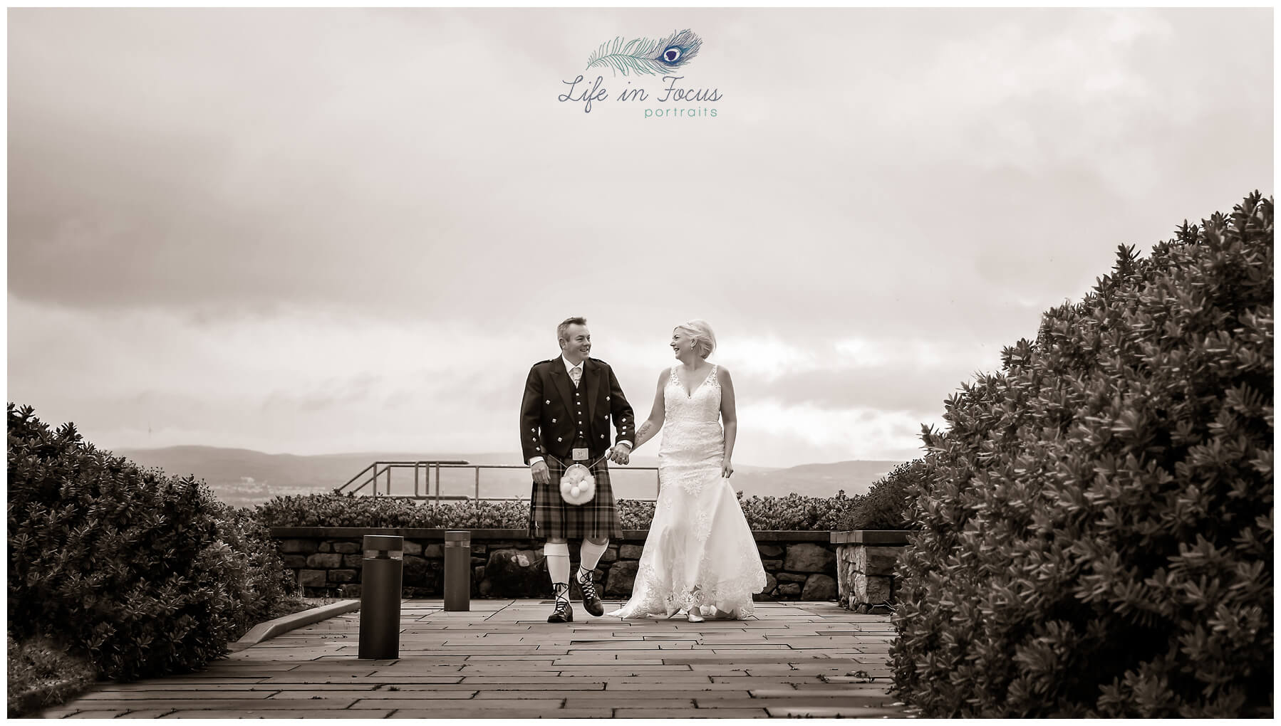 Bride and Groom after secret covid wedding Helensburgh Civic Centre Elopement Weddings