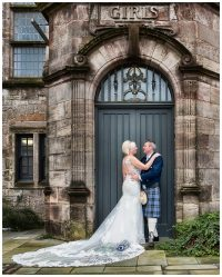 wedding photo of bride and groom at Helensburgh Registry Office Argyll and Bute Registrars